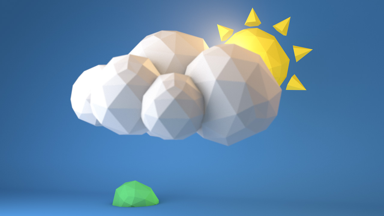 Low Poly Weather close up 2